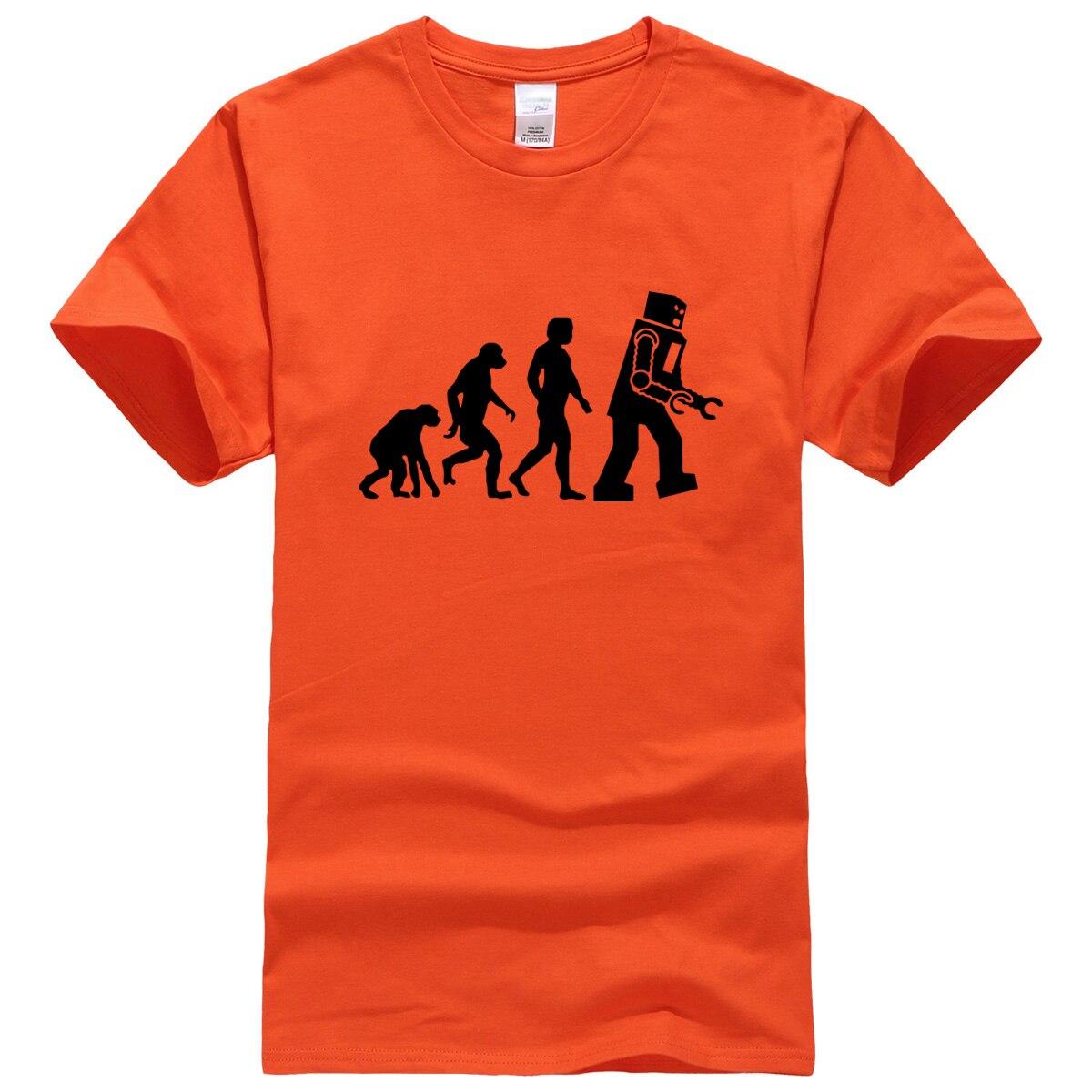2017 T-shirts The Big Bang Theory Robot Evolution T-shirt tops summer casual men's T-shirts fitness kpop sportswear t shirt men