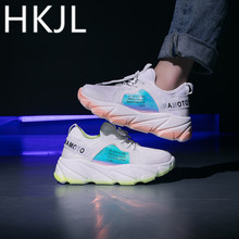 HKJL Fashion Sneaker female 2019 summer breathable new student joker casual Korean version net surface running shoes A556