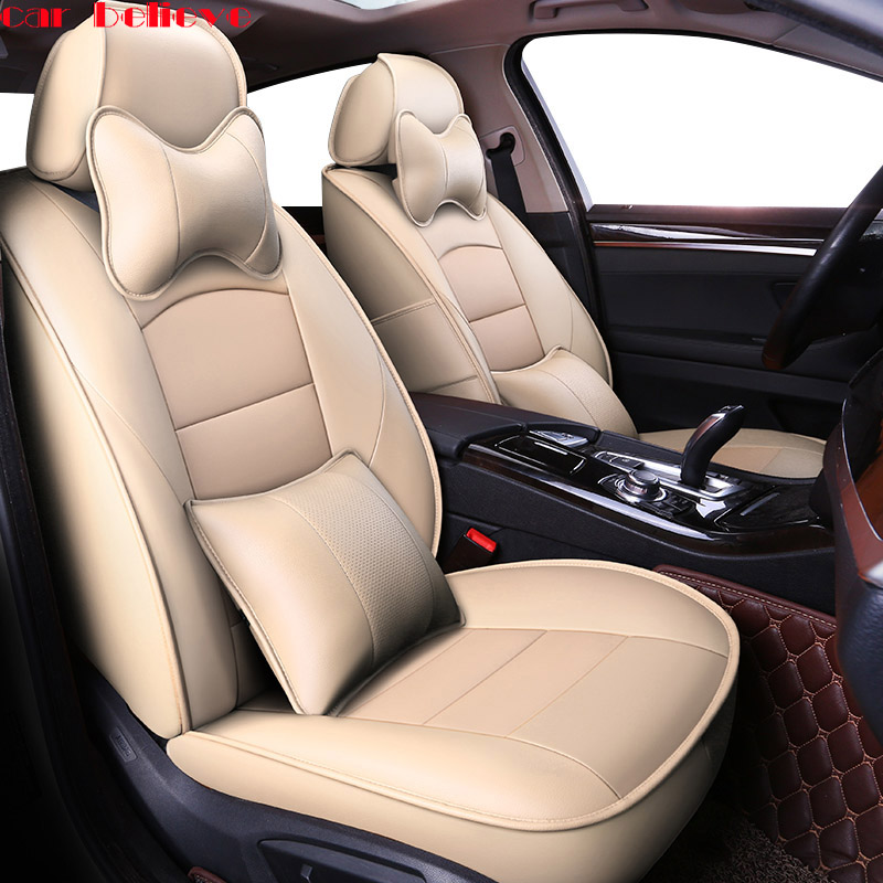 Car Believe automobiles Cowhide leather car seat cover For MiNi One Cooper R50 R52 R53 R55 R56 PACEMAN covers for vehicle seat