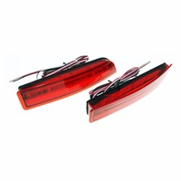 2pcs Car Styling Led Red Rear Bumper Reflector Lights Tail Light Parking Warning Lamp For Toyota