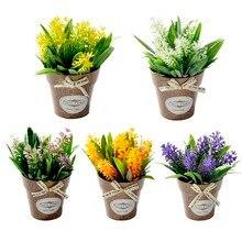 Гибридная искусственная Цветочная трава, пластиковая ваза для бонсай, искусственные цветы для свадебной вечеринки, украшения для гостиной, сада, дома