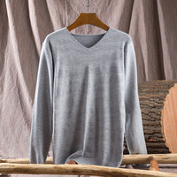 Pullover Men V Neck Sweater Men Long Sleeve Shirt Mens Cotton knitted V neck sweater Brand Cashmere Knitwear Pull Homme CC08