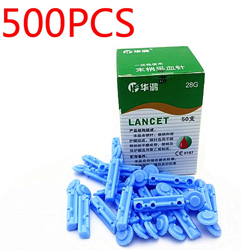 Wholesales CE approved Sterile disposable blood Lancet stick needle pen 500pcs/lot (23G 26G 28G to choose) free shipping stainless steel disposable sterile acupuncture needle for single use100pcs box massage needle 0 25 0 3 0 35