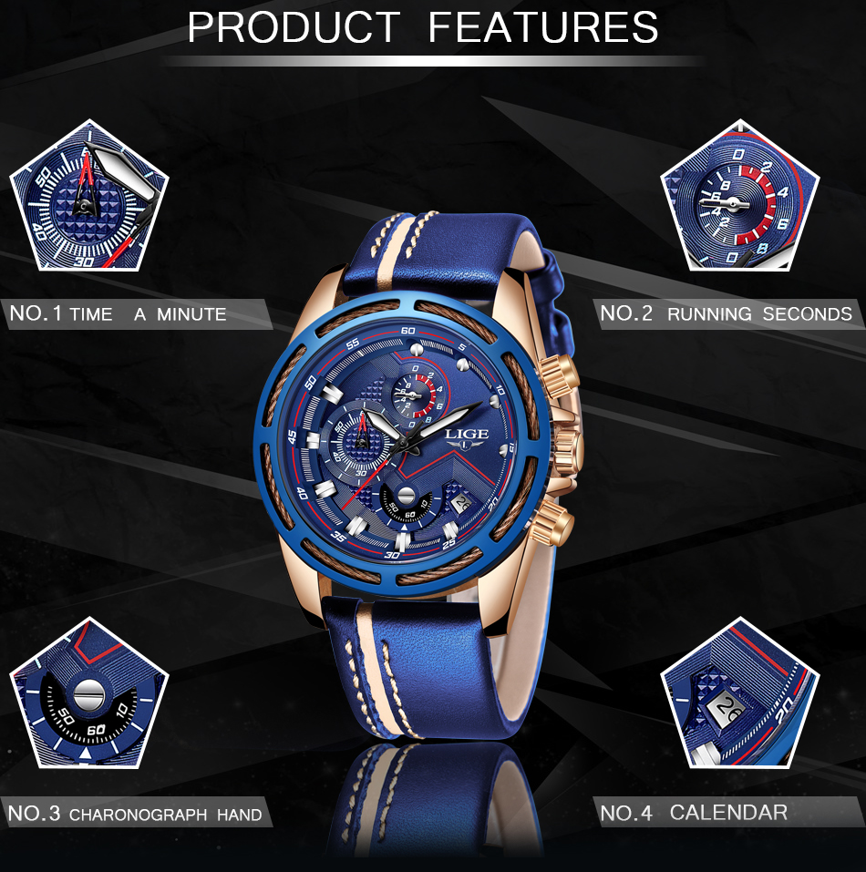 HTB1tOtgXoGF3KVjSZFmq6zqPXXa9 LIGE Watch Men Fashion Sport Quartz Clock Leather Mens Watches Top Brand Luxury Blue Waterproof Business Watch Relogio Masculino