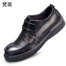 all-match cowhide business leisure mens shoes Genuine Leather designer men high quality loafer Men Dress Shoes spring
