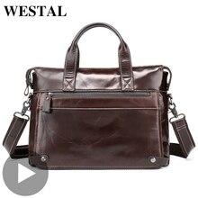 Westal Office Shoulder Business Messenger Women Men Bag Genu