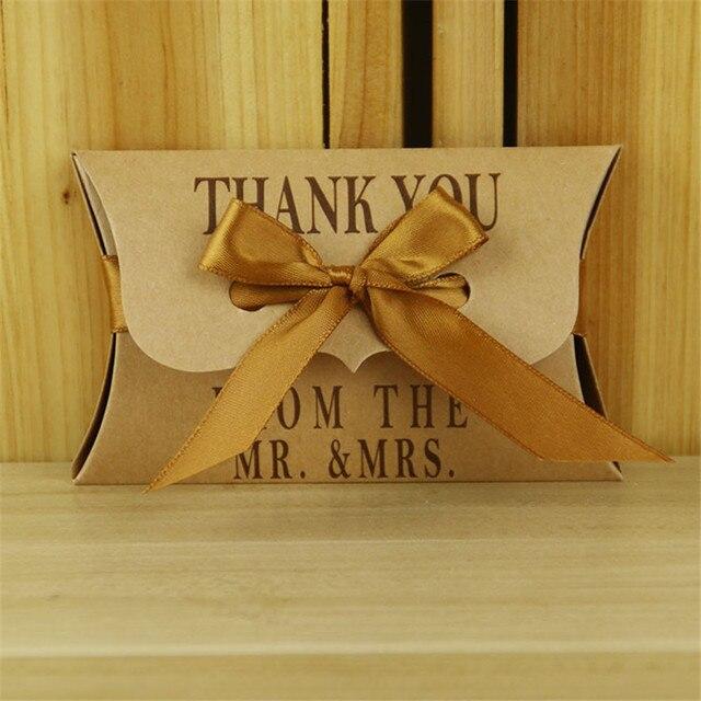 Aliexpress Buy 100pcs Thank You Kraft Paper Candy Gift Box