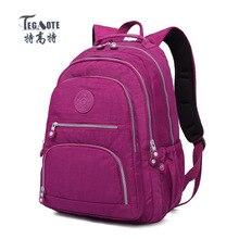 TEGAOTE Schulrucksack für Teenager Mädchen Mochila Feminina Frauen Rucksäcke Nylon Wasserdicht Casual Laptop Rucksack Weibliche bolsa