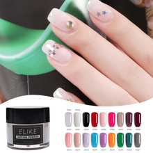 ELIKE sparkle glitter dip powder 10g long lasting no need UV light 2019 quick dry nail art decoration