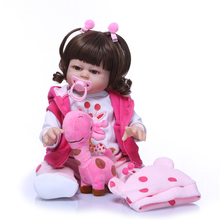 цена на Bebe Reborn Doll 48CM Adorable Boneca Handmade Full Silicone Reborn Baby Dolls Fashion Reborn Bebe Girl Dolls Toys for Children