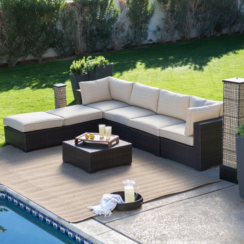 Top Black Rattan Indoor Furniture Sofa Set With Tea