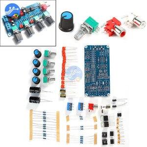 Image 3 - NE5532 Preamp amplifikatör kurulu DIY kitleri ses kontrol panosu tiz orta kademe bas DIY çift AC 15 V Modulo Amplificador