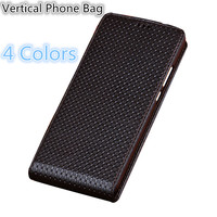 SS04 Natural Leather Phone Bag For Lenovo K5 pro Up and Down Vertical Flip Cover For Lenovo K5 pro Flip Case Free Shipping