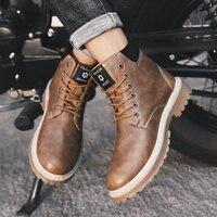 Ankle Boots Men Leather Boots Men Botas Hombre Men Shoes Bot Men Boots Autumn Footwear Buty Meskie Zapatos De Hombre