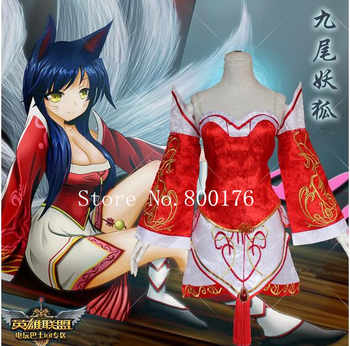 The Nine-Tailed Fox Ahri Cosplay Costume LOL cosplay S-L - DISCOUNT ITEM  10% OFF All Category