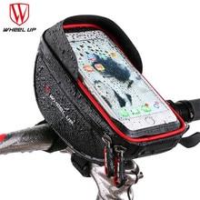 WHEEL UP Bicycle Bag Waterproof MTB Road Bike 6 Touch Screen Phone Case Cycling Top Frame Handlebar Accessories