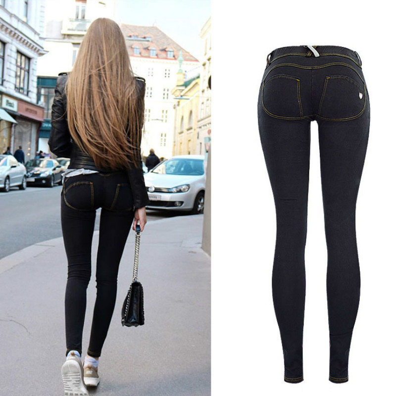 High Street Push Up black Denim Pants Mujer Low Waist Skinny Pencil Pants Femme Fashion Super Stretch Slim Soft Comfort Jeans 6