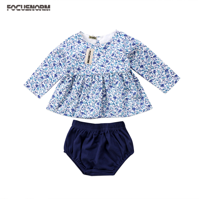 New Fashion AU Stock Newborn Baby Girls Clothes Set Flower Party Dress Short Pants Briefs Outfit Clothes