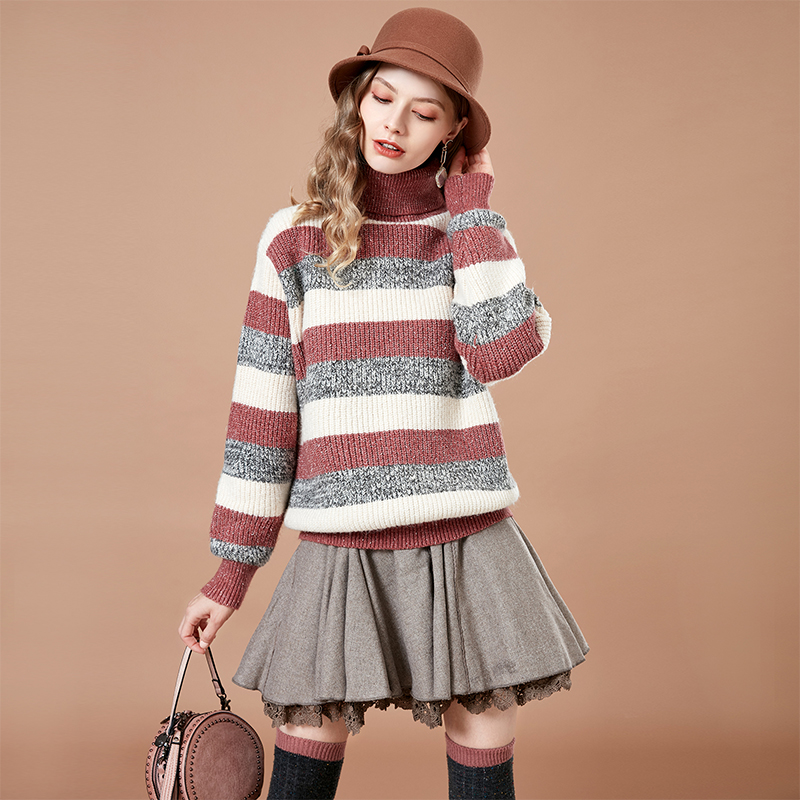 Artka Casual Striped Knitted Sweater YB11980D