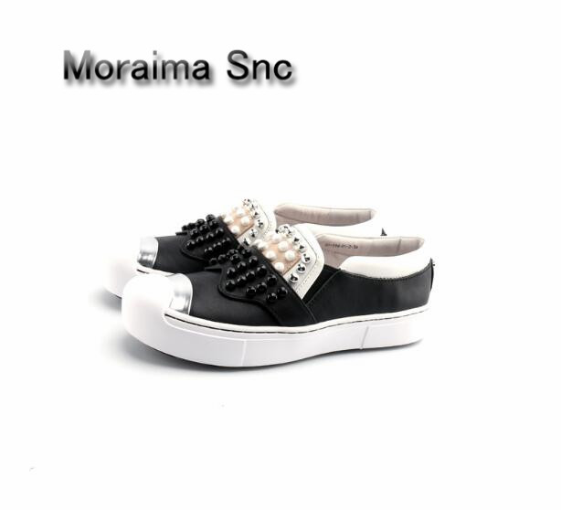 Moraima Snc Luxury brand women shoes mixed colors women sneakers shoes round toe casual shoes 3 cm flats flatform shoes newest moraima snc brand sneakers female summer black pink sexy cut out zapatillas mujer casual metal round toe height increasing shoes