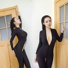 Porn Sex Body Teddy Womens Suit Erotic Lingerie Open Crotch Sexy Transparent Bodystocking Catsuit Langerie