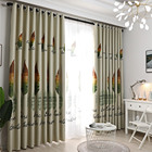 Printed Curtains Window Screening Room Darkening Thermal Insulated Grommet Curtains for Bedroom DC120