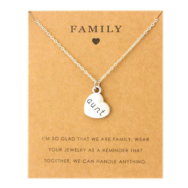 Семья мама Подвески Ожерелья бабушка тетей сестра дядя дочь папа Папа Отец сын очаровательные Модные украшения подарок любимым