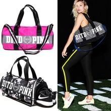 2017 Для женщин Повседневное розовый мешок профессиональный Femal fit сумка Горячие Женский 2-способ розовый вещевой мешок