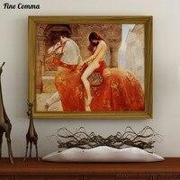 1897 леди Годива Джоном колье 100% ручная роспись маслом воспроизведение холст стены Книги по искусству фотографии Домашний декор для Гостиная