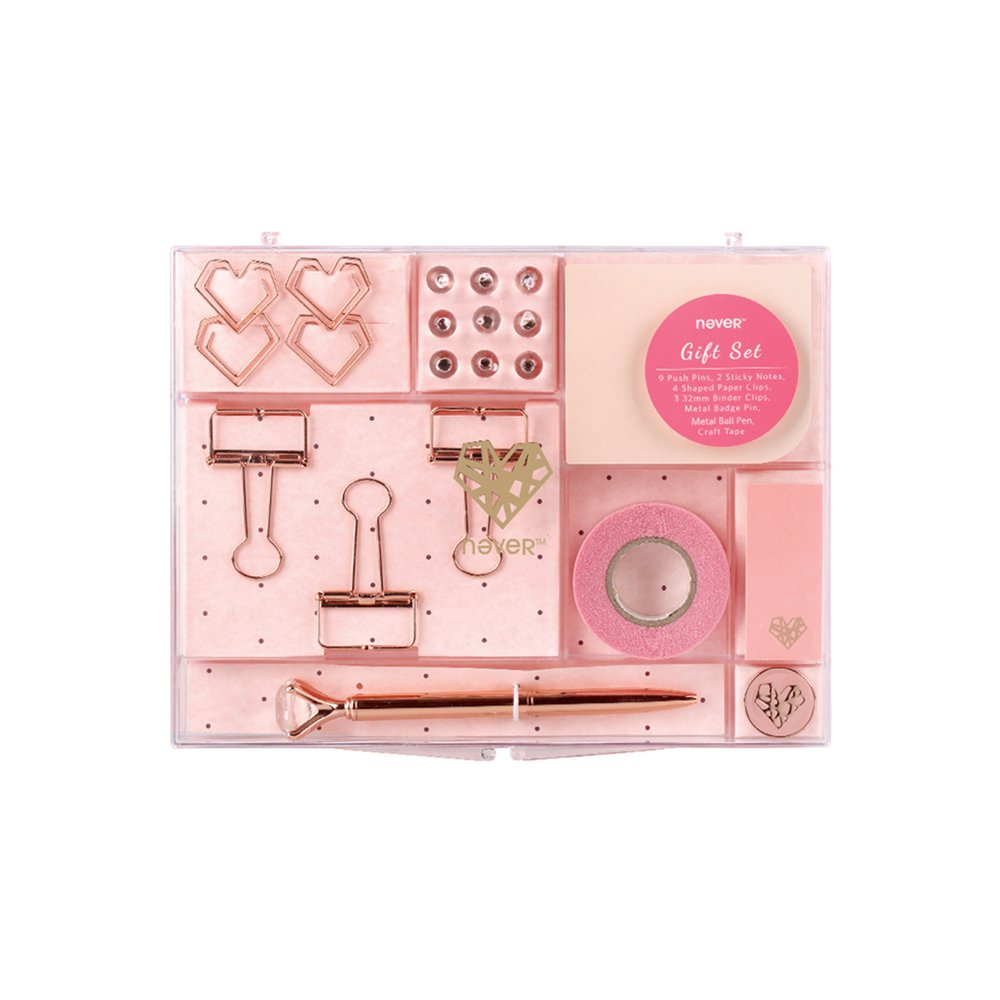 Rose Gold Stationery Kit For Office Supplies Shopkins Stationery Set Gift School Office Supplies Desk 16 Items Container Combo