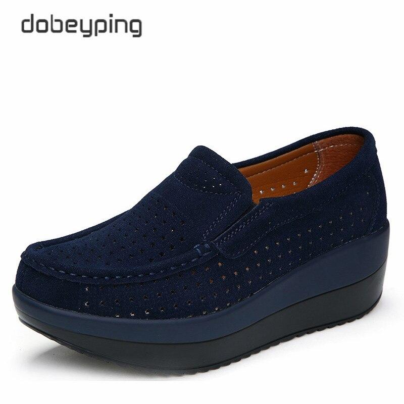 Image 3 - 新しい春の秋の靴女性の牛スエードレザーフラットプラットフォーム女性の靴レースアップ女性のローファー厚い底女性スニーカーwomen loafersplatform women shoesleather flat -