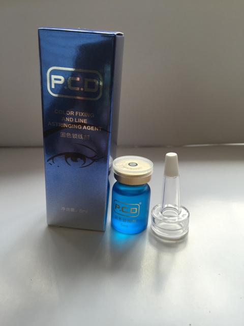 Microblading Sobrancelha Durante O Procedimento Pigmento Agente de Fixação de Cor linhas de Tinta Maquiagem Permanente evitar o desbotamento Lock-5 ml