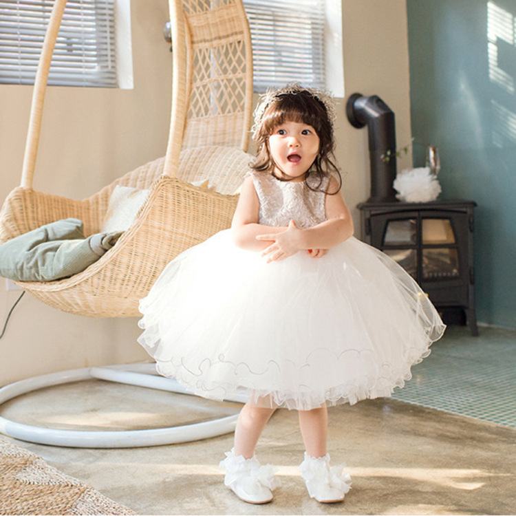 Formal Party Girls's Dresses Children Fancy Flower Girl Vestidos 2017 Fashion Kids Clothes For 3 4 6 8 10 12 Years AKF164098