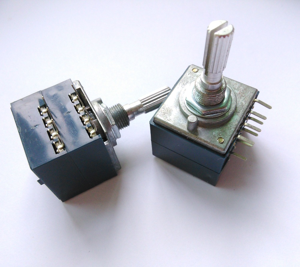 50KAX2 LOG Type Volume Potentiometer 8PIN with Loudness,