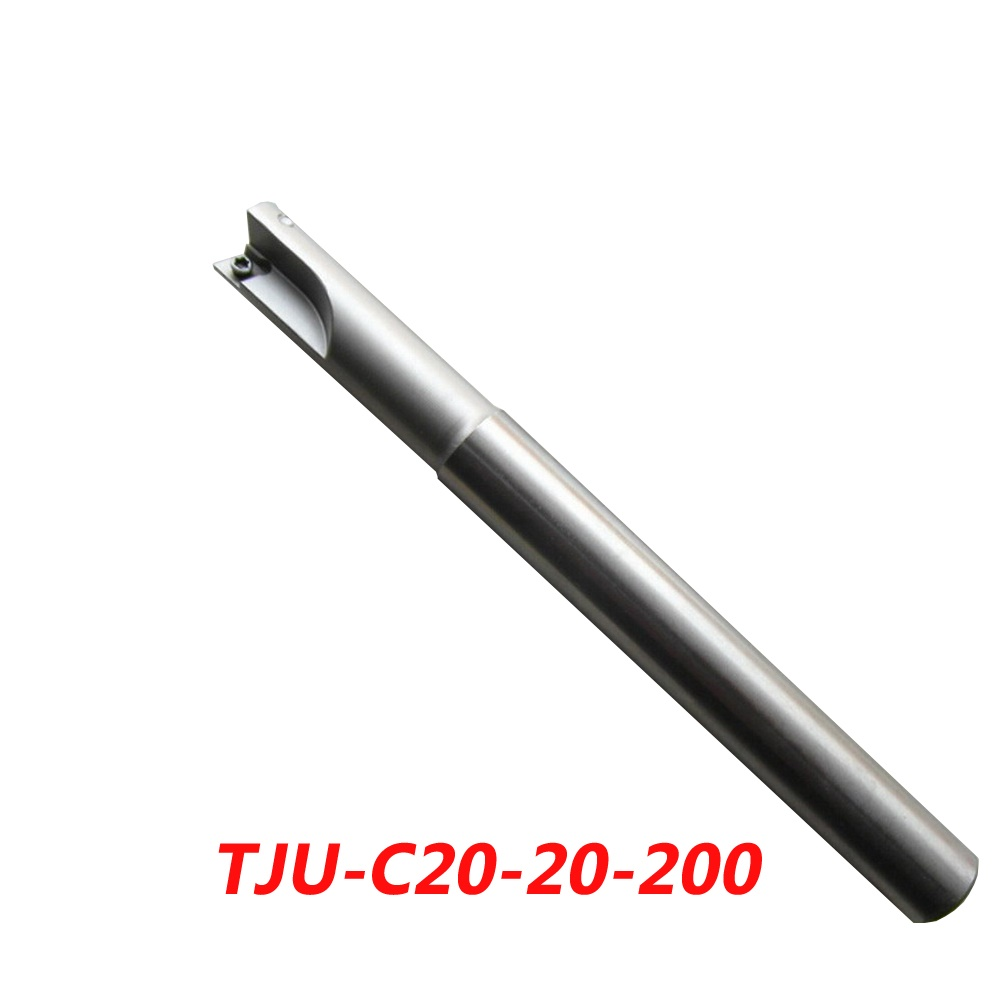 TJU-C20-20-200 Indexable Drilling And Milling Cutter Arbor For CCMT060204+CPMT090204Z Carbide Insert free shiping1pcs aju c10 10 100 10pcs ccmt060204 dia 10mm insertable bore drilling end mill cutting tools arbor for ccmt060204