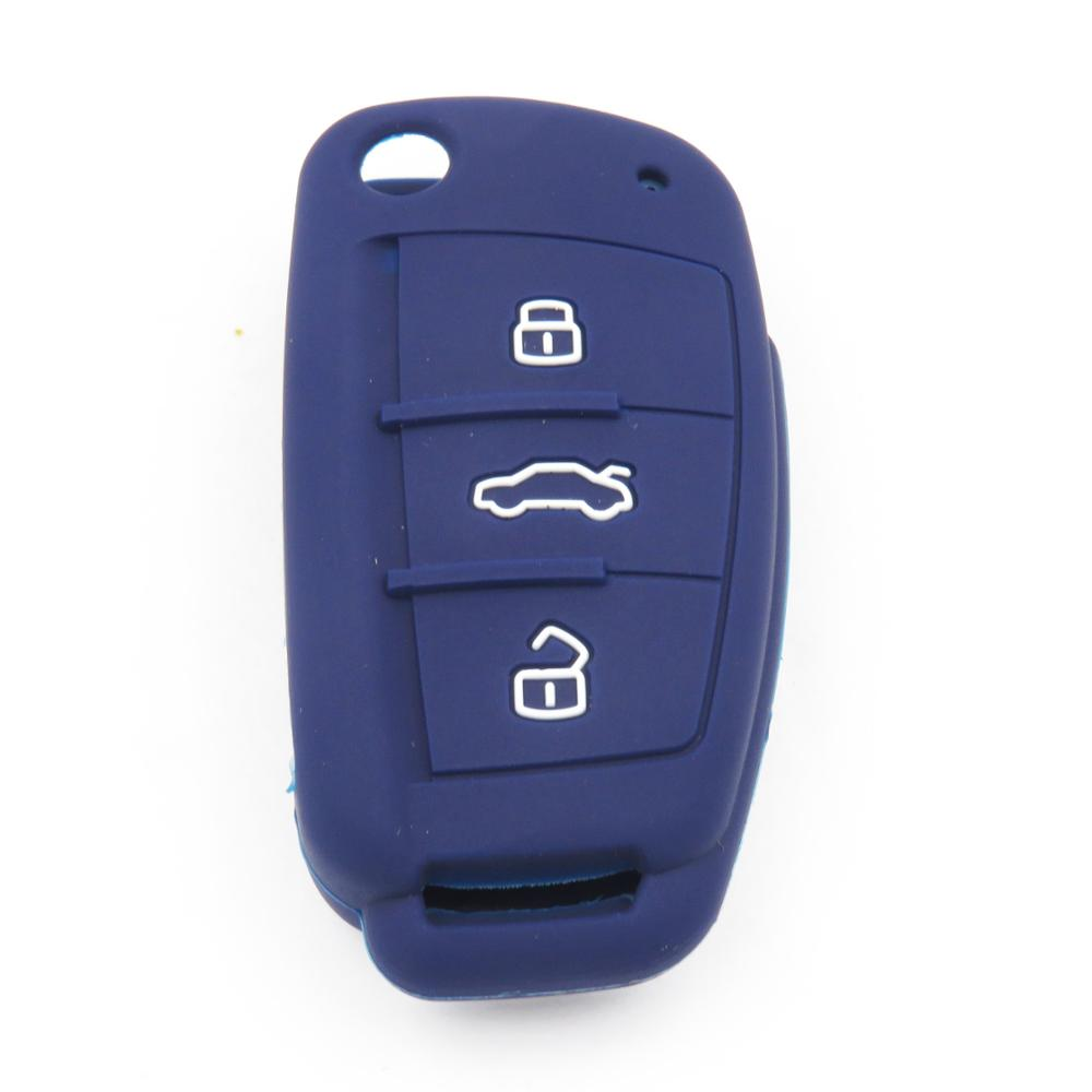 Silikon Anahtar Kapak Durumda Audi A1 Için A3 A4 A5 A6 A7 A8 Q5 Q7 - Araç Içi Aksesuarları - Fotoğraf 3
