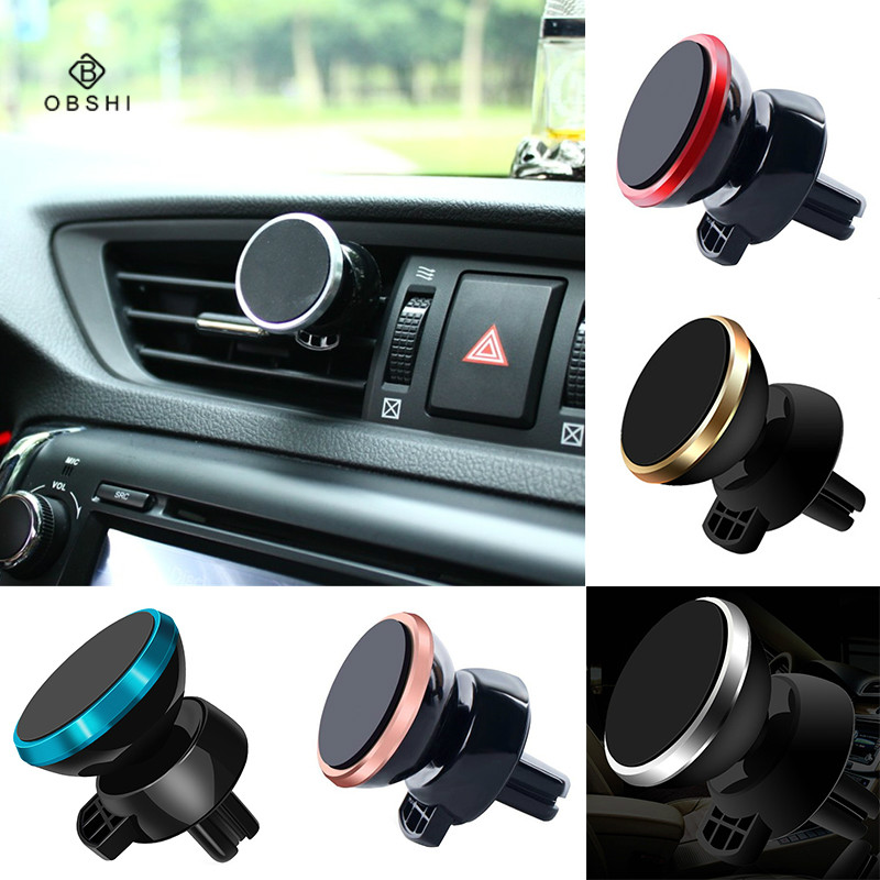 Pad Rotating-Charger-Holder Smartphone Car-Air-Vent Magnetic Stander Universal Samsung