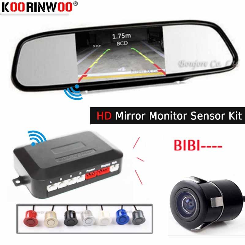 Wireless Dual Core CPU Car Video Parking Sensor Reverse Radar Vehicle Monitor Digital Display BIBI Speaker Alarm Rearview camera