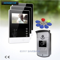 HOMSECUR 1V3 4.3inch TFT LCD 4.3inch Video Door Entry Phone Call System with Intra monitor Audio Interaction for Apartment