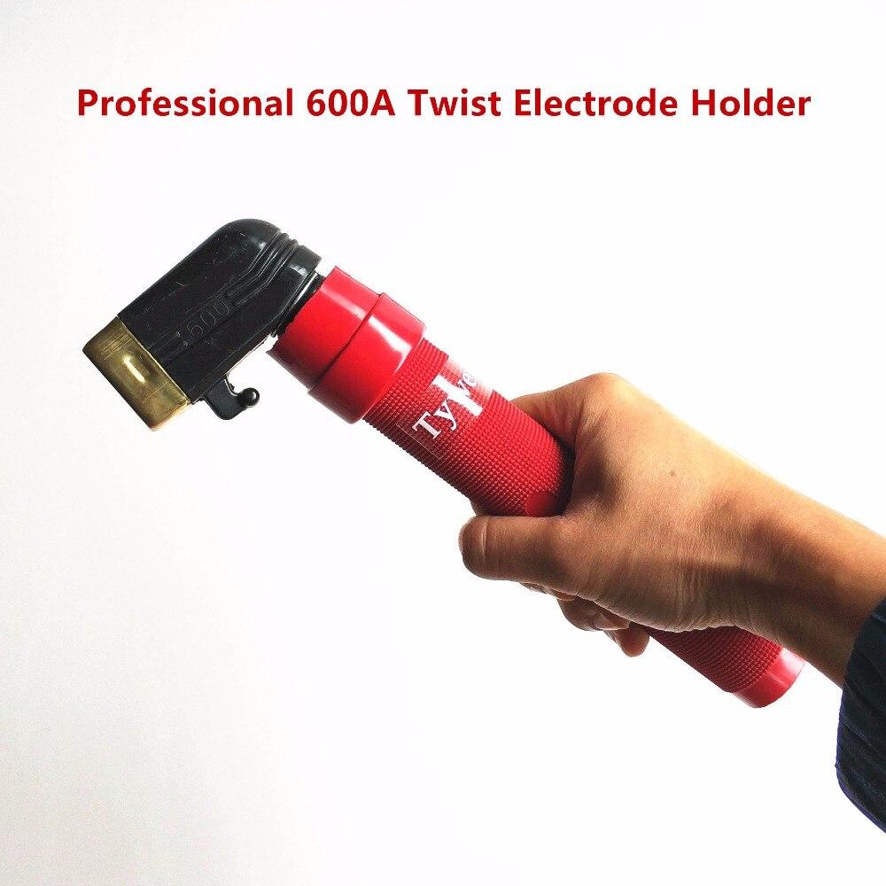 Professionnel Porte-Électrode 600A Torsion Pince À Souder avec Forgeage De Cuivre Corps pour MMA Machine De Soudage EN 60974-11 Conformité