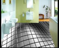 3D Wallpaper Custom Mural Beauty Abstract Stainless Steel 3 D 3 D Floor Tile Floor Pvc