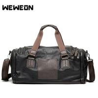 Men's PU Leather Sports Bag Gym Bag Fitness Sport Bags Duffel Tote Travel Shoulder Handbag