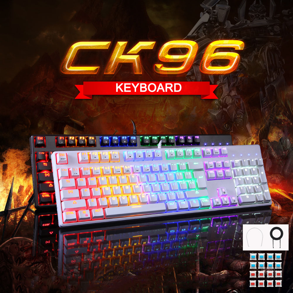 USB Wired Gaming Mechanical Keyboard RGB Backlight 104 Keys Anti ghosting Keys GDeals-in Keyboards from Computer & Office
