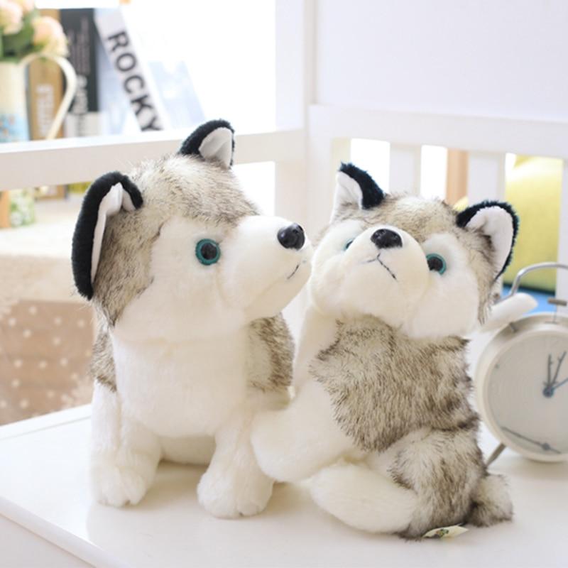 Cute Husky Dog Plush Toy Little Wolf Soft Stuffed Animal Adorable Plushy Kawaii Kids Doll Fluffy Birthday Gifts For Children Boy