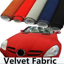 135*50 см DIY украшения авто мотоцикл стайлинга автомобилей стикеры бархат ткань интерьер/снаружи автомобиля изменить цвет плёнки
