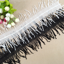 14cm Wide Bilateral Eyelash Tassel Embroidery Tulle Lace Fabric Decor Handmade DIY Clothing Clothes Skirt Accessories Material кружево для шитья diy lace garden 7 14cm lt048 diy embroiered