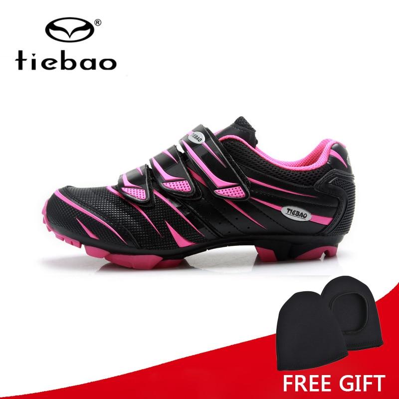 Tiebao Professional Cycling font b Shoes b font Women MTB Bike Self Locking font b Shoes