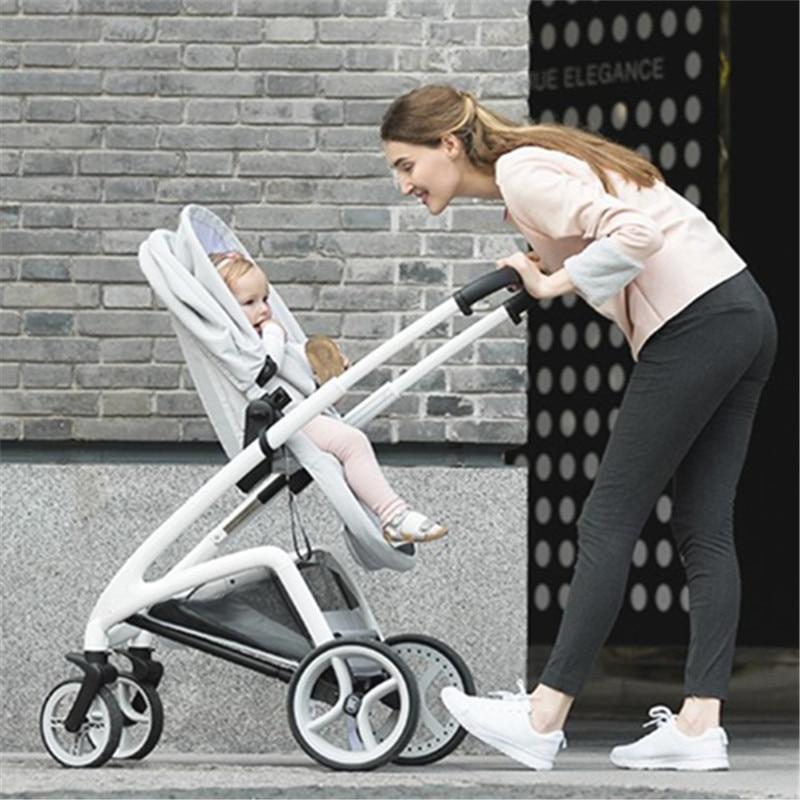 Luxury Baby Stroller High Land-Scape Pram Portable Kinderwagen Folding Bebek Arabasi Travel System Poussette все цены