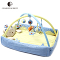 Velvet 0-1Year Baby Play Mat Baby Toy High Quality Tapete Infantil Educational Crawling Gym Mat Foldable Music Game Carpet HK874