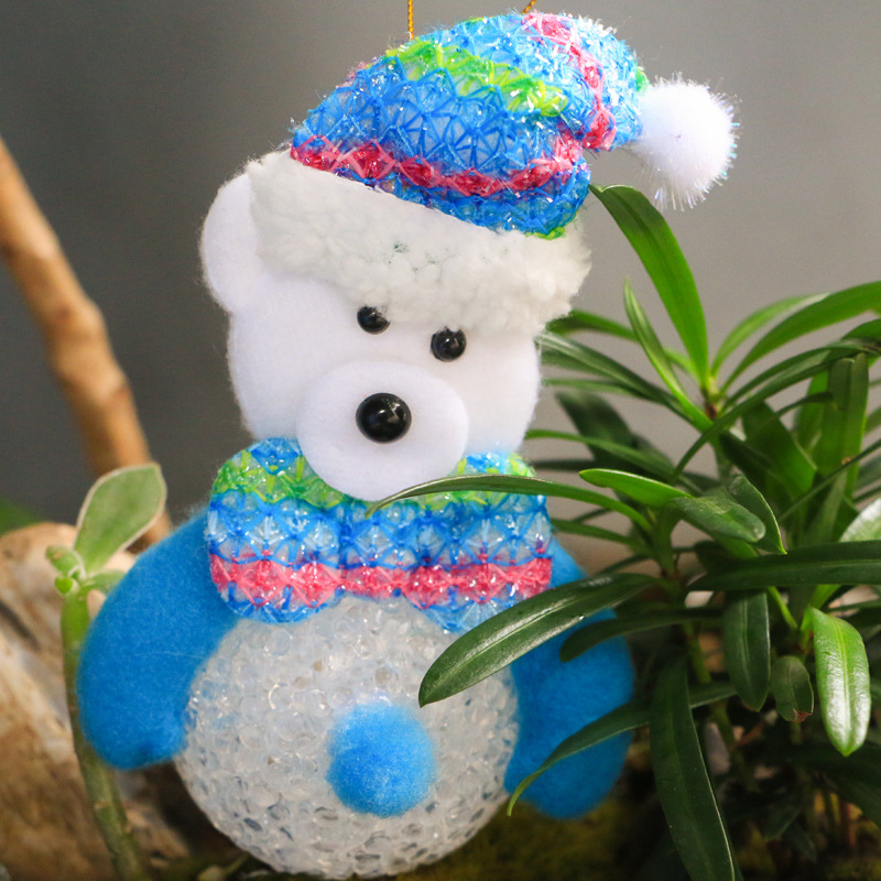 Kerst Led Verlichting Crystal Grain Sneeuwpop Kerstman Elanden Beer